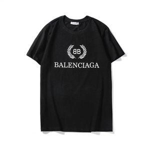 20ss Uomo Donna T-shirt Stampa Lettera supera Streetwear T-shirt Hip Hop Kanye alta qualità degli uomini vestiti di cotone Tee WMQ30