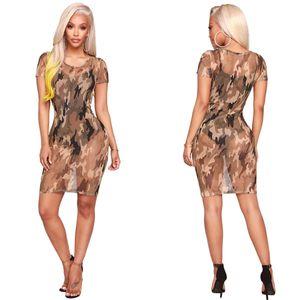 النساء ملابس قصيرة الأكمام النساء ق الملابس حزب فساتين شاشة مثير مصمم اللباس أنيق مطبوعة مريحة للتنفس تنورة