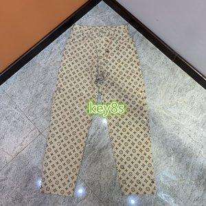 high-end mulheres meninas jeans calça coberta letra do monograma imprimir calças de pista de 2020 design de moda de luxo de lazer calças