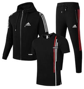 Nouvelle veste d'hommes de femmes manches courtes pantalon polaire à capuchon 3 monopièce Survêtements Sweat pantalons sport T-shirts manteau unisexe FSSS6218