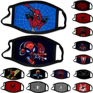 balck Spiderman máscara de algodón americano máscaras niño héroe adulto Chidren diseñador de la cara máscara de la máscara reutilizable lavable envío libre en la acción del partido