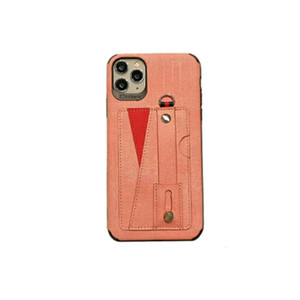 iPhone 11 11Pro max 7 7plus 8 8plus X XS MAX basit bir kart telefon kılıfı için koruyucu telefon kılıfı ile Modaya bez el kayışı