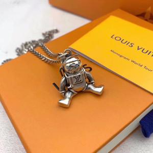 Роскошное качество S925 стерлингового серебра и название бренда кулон астронавты ожерелье для женщин и мужчина свадебный подарок ювелирные изделия маркой падение Ши