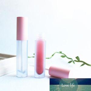 Esmerilado redondo rosado brillo de labios Tinte de plástico Tubos de bricolaje Maquillaje vacío grande Gloss Labial Líquido caso de la belleza de embalaje 20pcs