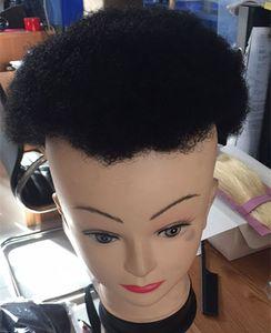 Siyah Erkekler Için Afro Toupee İnsan Saç Tüm Şeffaf Dantel Adam Örgü Kelebek Erkek Özel Saç Ünitesi 8x10 inç Erkek Saç