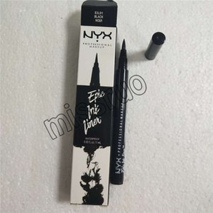 2018 NYX Eyeliner Makeup Pencil قلم كحل أسود مقاوم للماء لا تتفتح دقة العين السائل