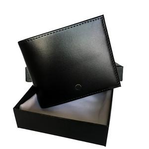 Europeus e americanos populares designer de carteira ultra-fina do bolso cartão de crédito titular carteira clássico preto projeto couro titular curta masculina