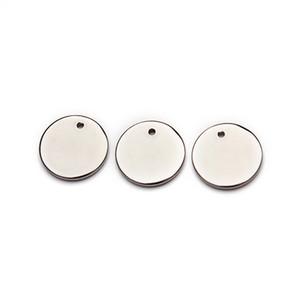 LOULEUR 20pcs / lot 7 encantos de aço inoxidável Tamanhos Rodada Pendant Connector para o bracelete em branco Stamping DIY colar Jóias tomada