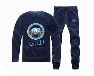 F0025 # s-5xl nuovo stile hip hop roller skateboard uomo abbigliamento donna pile felpa con cappuccio + pants = 1 set Tute