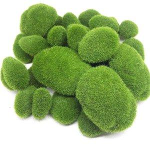30PCS 3 Größe Artificial Moss Rock Dekorative, Green Moss Ball, für Blumenarrangements Gärten und Crafting
