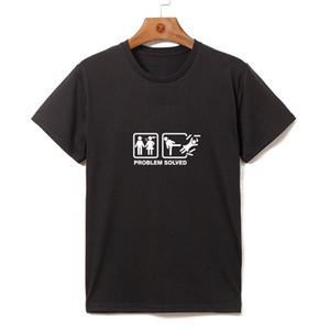 ZONA DE SELVA más el tamaño del O-cuello de manga corta camiseta divertida personalidad Single dog t shirt diseño para hombre camisetas 2017 NUEVO TA042
