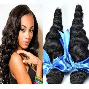 9A brésilienne lâche Human Wave Hair Extensions Trame cheveux Weave Couleur naturelle Dyeable bleachable produits non transformés Hair Lot