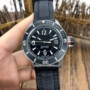 Disque 3 Estilo 42 milímetros Master Compressor Diving automática Navy SEALs Q2018470 Mens Watch Sapphire Ceramic Bezel Black Leather Strap Gents Relógios