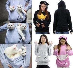 Titolare Unisex Kangaroo Pet Dog Cat Carrier cappotto hoodies Pouch piani di grandi dimensioni da tasca con cappuccio