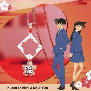 여성 발렌타인 데이 선물에 대한 애니메이션 탐정 코난 액션 피겨 Kudou 신이치 모리의 란 목걸이 펜던트 925 실버 쥬얼리