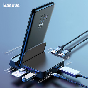 Baseus usb tipo c hub docking station para samsung s10 dex pad estação usb-c para hdmi dock power adapter para huawei p30 pro