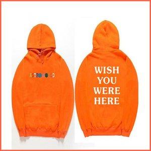 Para hombre con capucha, suéter Streetwear, Travis Scott Hoodies letra de la manera Imprimir la mujer del hombre manga larga con capucha suéter