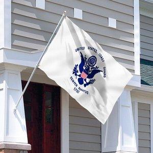 Équipe Polyester impression drapeau de la Garde côtière américaine 3x5FT Club Sports de plein air Drapeau Livraison gratuite Brass Les Œillets