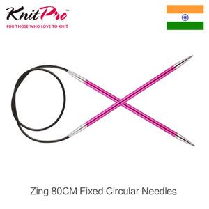 1 шт Knitpro Zing 80 см Фиксированный круговой спицы