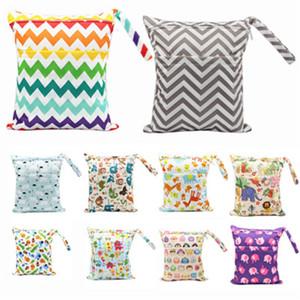 아기 기저귀 스토리지 가방 방수 30 * 36CM 만화 인쇄 다채로운 아기 더블 지퍼 기저귀 가방 세척 누출 방지 기저귀 가방 42 색
