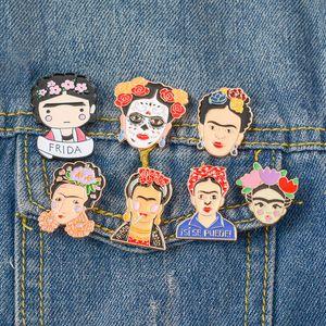 Botón de la moda del artista mexicana esmalte pernos creativo Mujeres decoración de metal broche de la bolsa de regalo de la joyería Pin de la solapa de los hombres de la brocha LT-TTA706