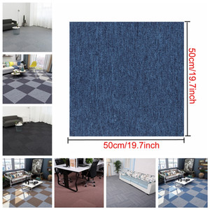 Wholesale 19.7*19.7inch Home DIY Square Carpet Office Seamless Spliceable Carpet Engineering Commercial Hotel Corporate Carpet DH1186