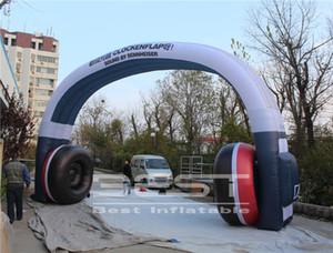 Entrada Exterior Portão decorativa inflável fone Arch 8m Largura explodir Headphone Archway Para Dj Club Party Eventos Festival Decor
