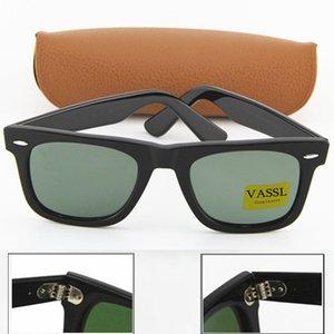 Высокое качество планка классический черный металлический шарнир рамка солнцезащитные очки Мода женщины солнцезащитные очки 50 мм стеклянная линза с коричневой коробкой