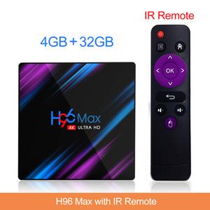 Yeni H96 Max Android 9.0 TV kutusu 2G16G 4G32G RK3318 çift WİFİ Akıllı TV kutusu