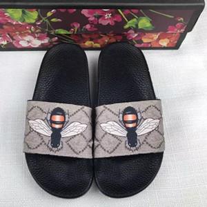 2020 Erkekler ve Kadınlar moda Plaj Slayt Sandalet erkek dişi çiçek çiçek deri Terlik Boyut eur35-46 yazdırmak