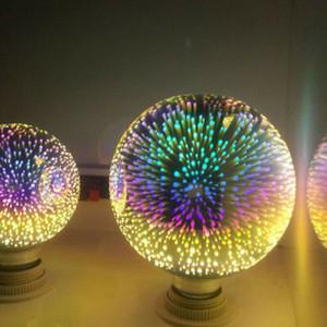2020 Lampe 3D E27 AC85V-265V 4W LED RGB Feux d'artifice lumières 3D ampoule Creative Vintage ampoule Lumières de Noël Décoration de Noël Nuit