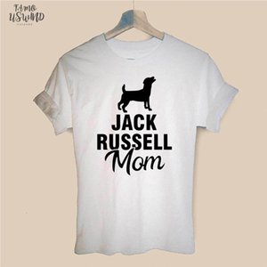 New Jack Russell Terrier Mom Dog Pet T Shirt Short Sleeve O Neck Cotton T Shirt Girls Tee Tops Woman Clothing