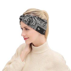 Boho Style Women Headband Flower Print Lady Headwrap Girls Fabric Cross Hair Band Wide Floral Turban Fashion Bow Knot Headbands