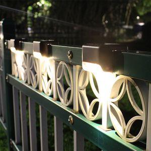 Солнечная палуба Светится Солнечный Шаг Светится Открытый Водонепроницаемый светодиодный солнечный забор Лампа для патио Лестница Сад Pathway Шаг Yard