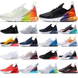 Nike air max 270 con calcetines 2019 transpirable Hombres Mujeres Zapatos para correr Triple Negro BARELY ROSE Photo Blue Have a day zapatillas de deporte para hombre Zapatillas