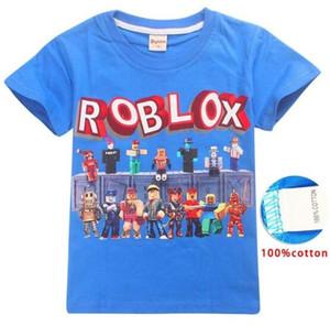 Roblox 게임 T- 셔츠 소년 소녀 의류 아이 여름 3D 재미 있은 인쇄 Tshirts 복장 아이들 아기 ere66를위한 짧은 소매 옷