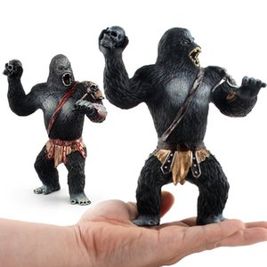 Model Solid Black Gorilla Model Jingang Warrior Wild Animal Gorilla Garage Kit Decoration Toy