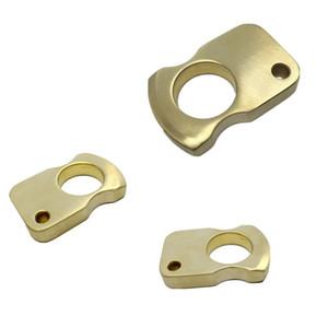 10 mm de espesor solo dedo latón Knuckle Duster anillo Personal Secruity exterior mujeres y hombres defensa herramienta de mano ventana rota envío gratis