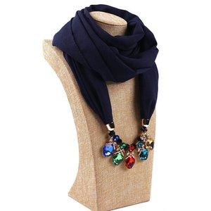 20 Renkler Pendant fular Dekoratif Takı Kolye alaşım Boncuk kolye Eşarp Kadınlar Fular Femme Başkanı Eşarplar LE375