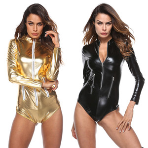 Costumi Latex Baby Doll in pelle dell'orso PU calda bamboletta sexy Porno intima Biancheria Erotica Pole Dance Club Zipper Vestitino