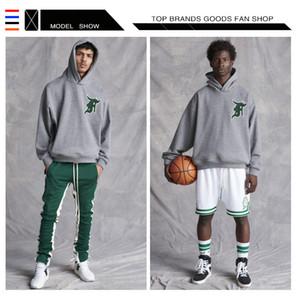 Diseñador Street Tide Fear Of God sudadera con capucha FOG 5th Celtics Sudaderas con capucha para hombre Sudaderas Otoño Hombres Hip Hop Moda Casual Sudaderas con capucha para hombre Sudaderas