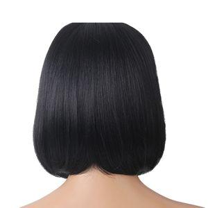 Fashion Silky Natural Long Straight Human Hair Cosplay Wig&Bangs For Women