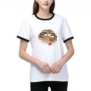 Новое прибытие женщин тенниска способ вскользь Ladies DIY тройников для лета Горячих продаж Женщины DIY T Рубашки с Printed 2 цвета Размер S-2XL