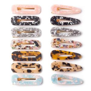 Свободный DHL 14 Styles акрилового зажим для волос для девочек Женщин Leopard Marble Цветочные текстурированной Геометрической Утконос заколка Заколка Аксессуары для волос