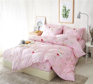 BEST.WENSD Family bedding set High quality super soft duvet cover Fitted Sheet pillowcase Princess Bed set Bedspread