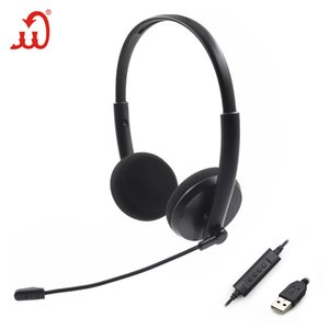 Headphonesusb Telephone Dual Headset Computer Headset Monitoring Customer Service Headset with Wire Control Noise Reduction