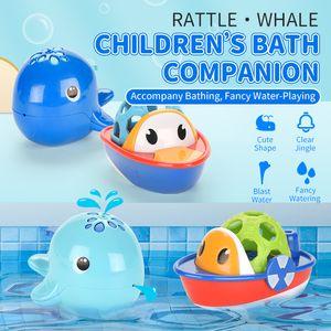 TW2004065 giocattoli da bagno pesce che nuota crepitio del bambino mano tremante 12M + Water-gioca l'insieme del regalo per vasca da bagno bambino bagno
