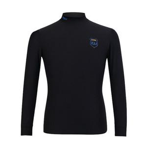 2018 PGM Golf Jersey Warm dünne hohe elastische Anti-Statik-Bluse für männliche Golf-Unter mit Farbe Schwarz Weiß Grau Größe M-XXL