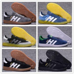 Высокое качество мужские замшевые туфли Гандбол Spezial с Spzl Газель повседневная обувь белого человека черный ультра наддува оригинальные OG кроссовки 40-44