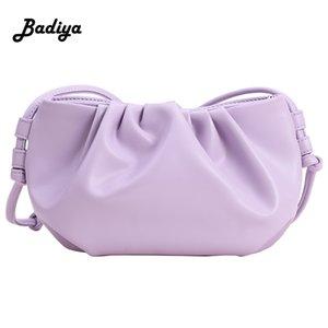 Fashion Cloud-wrapped Soft PU Leather Small Bag Shoulder Slant Handbag Day Clutches Bags Messenger Crossbody Bag